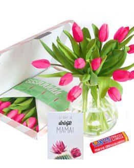 Roze Brievenbus Tulpen + Tony